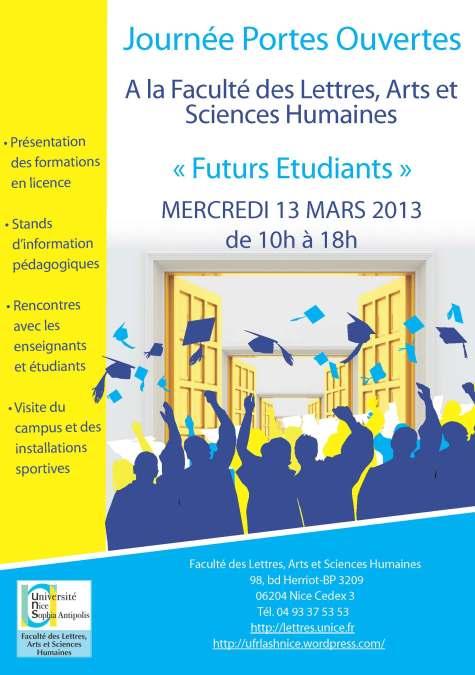 Affiche journée portes ouvertes mars 2013