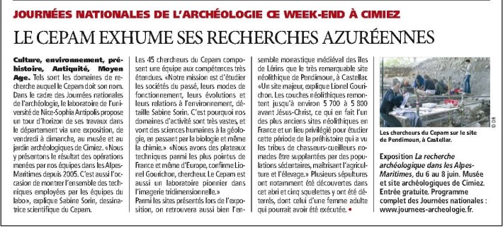 CEPZM article direct matin du 4 juin 2014
