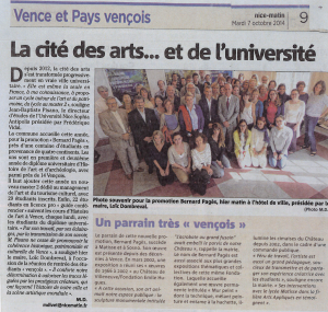 Article Nice Matin du 7-10-14