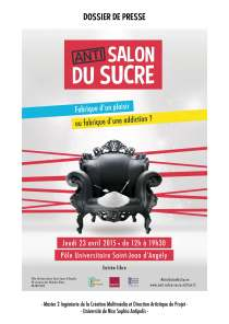 Affiche anti salon du sucre